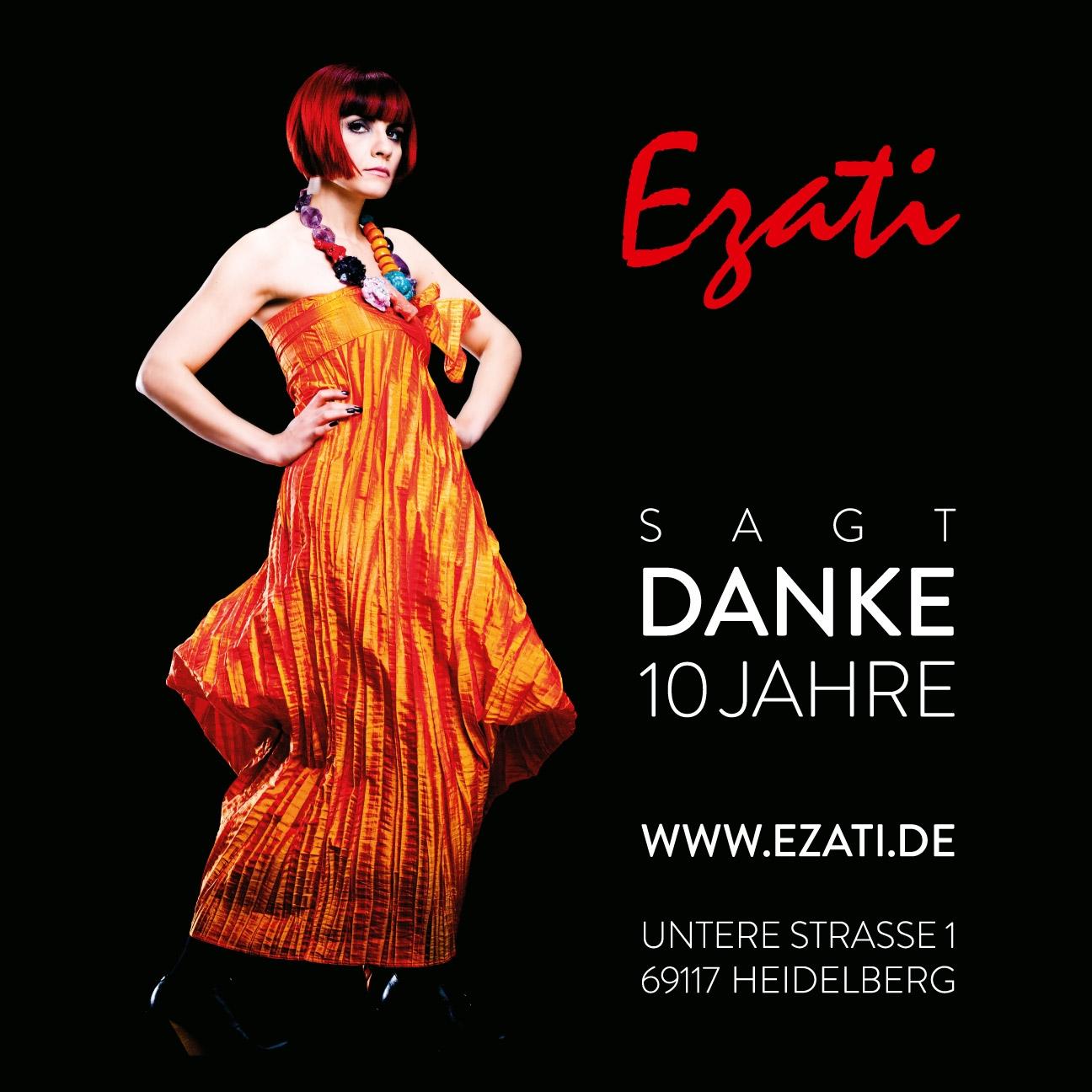 Mode Plakat 10 Jahre – EZATI