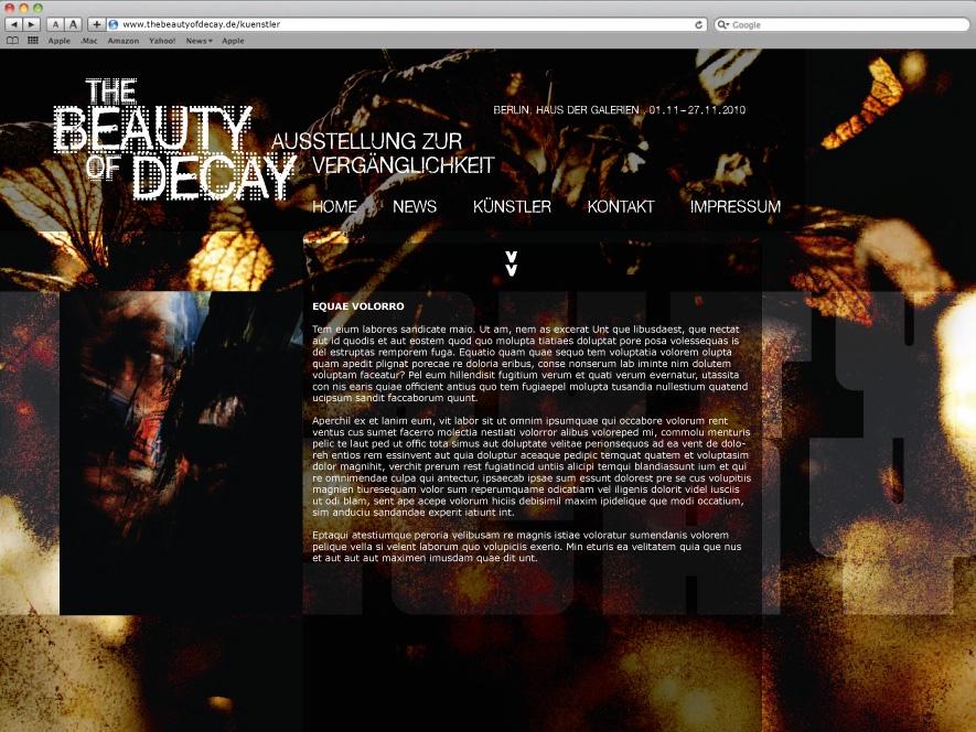 Ausstellung Website BOD
