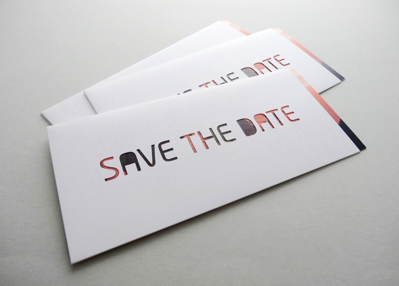 karte design save the date stanzen Schuber