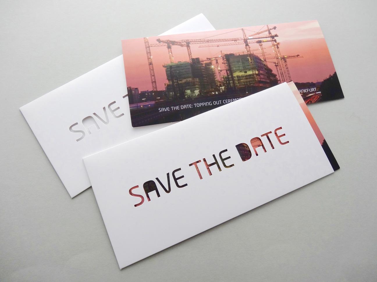 karte design save the date stanzen Schuber