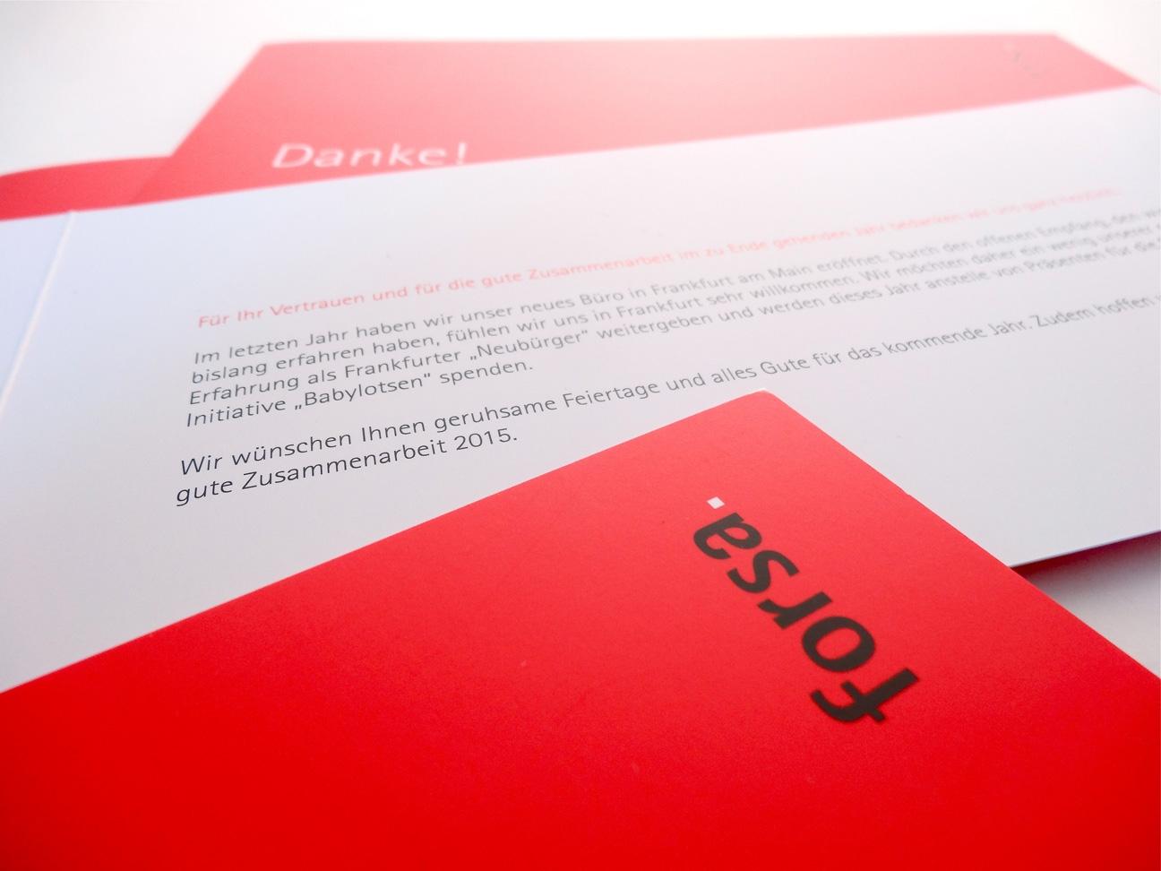 Danke! Grusskarte Greeting Card red forsa.