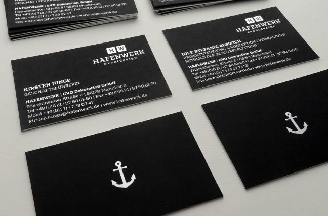 Hafenwerk Corporate Design Visitenkarten