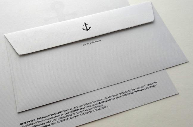 Hafenwerk Corporate Design Briefumschlag