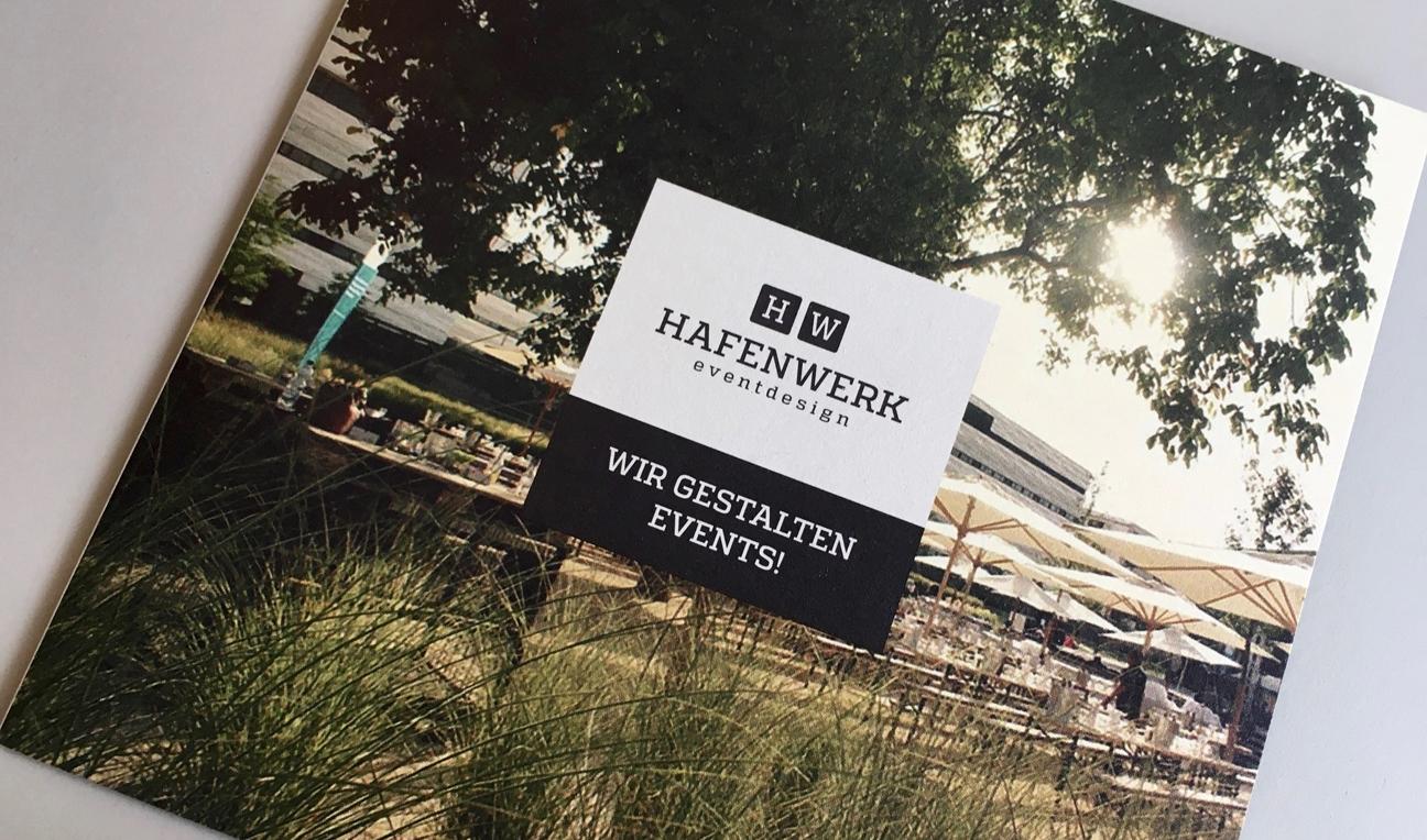 Hafenwerk eventdesign Folder Wir gestalten Events Mobiliar Floristik Dekoration