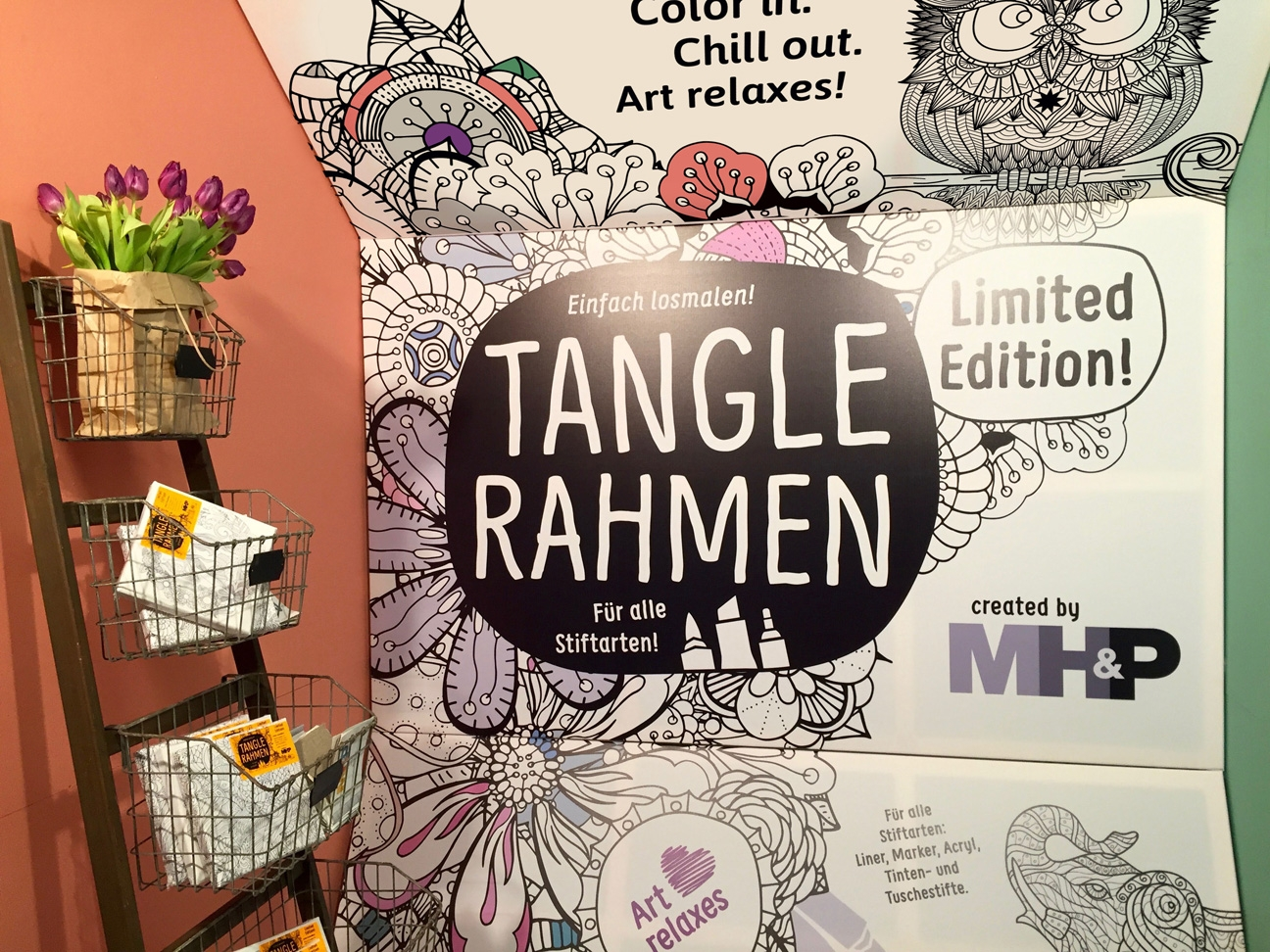 Tangle Rahmen Messestand MH&P Creativeworld