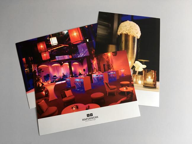 Postkarten Hafenwerk Eventdesign Mobiliar Dekoration Floristik
