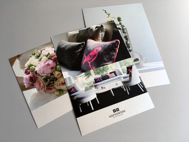 Postkarten Hafenwerk Eventdesign Mobiliar Dekoration Hochzeit Floristik