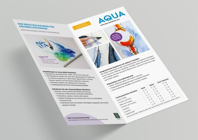 AQUA POS Flyer MH&P Das Keilrahmen Werk