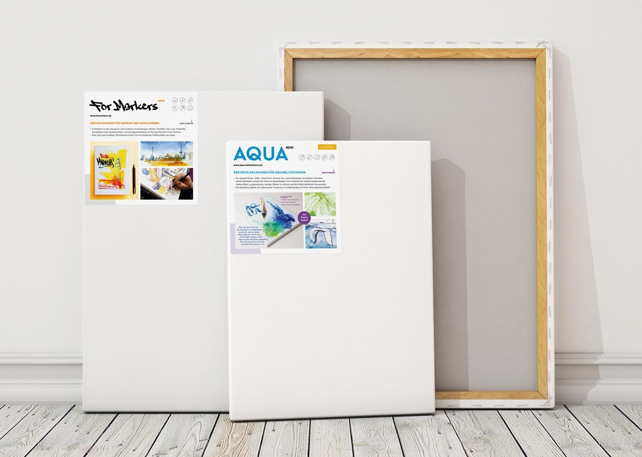 Aqua ForMarkers POS Einleger Produkte