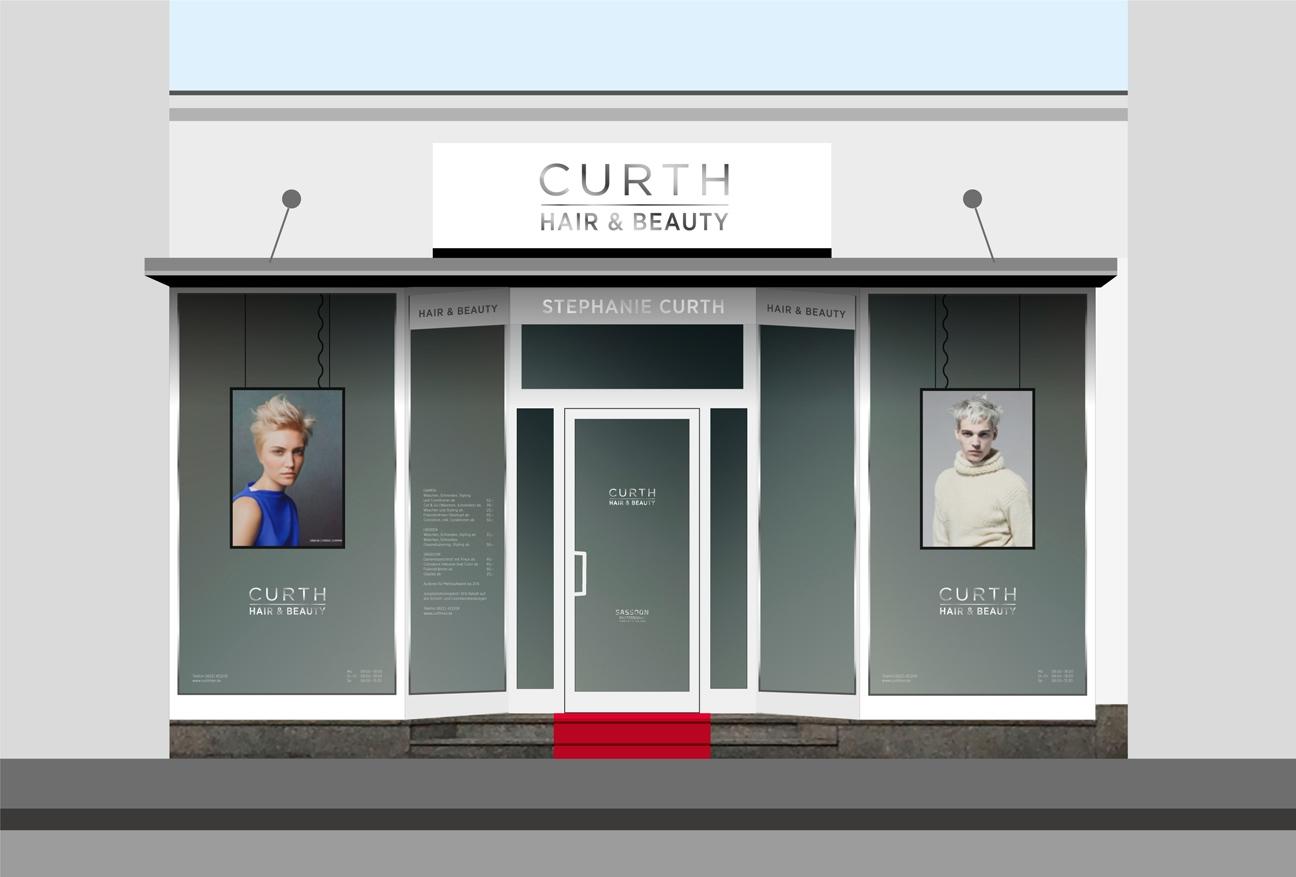 Curth Salon Branding Brueckenstrasse Heidelberg