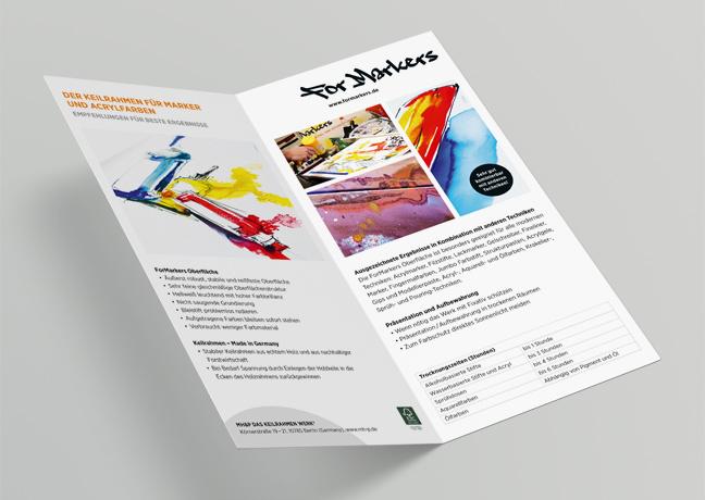 ForMarkers POS Flyer MH&P Das Keilrahmen Werk