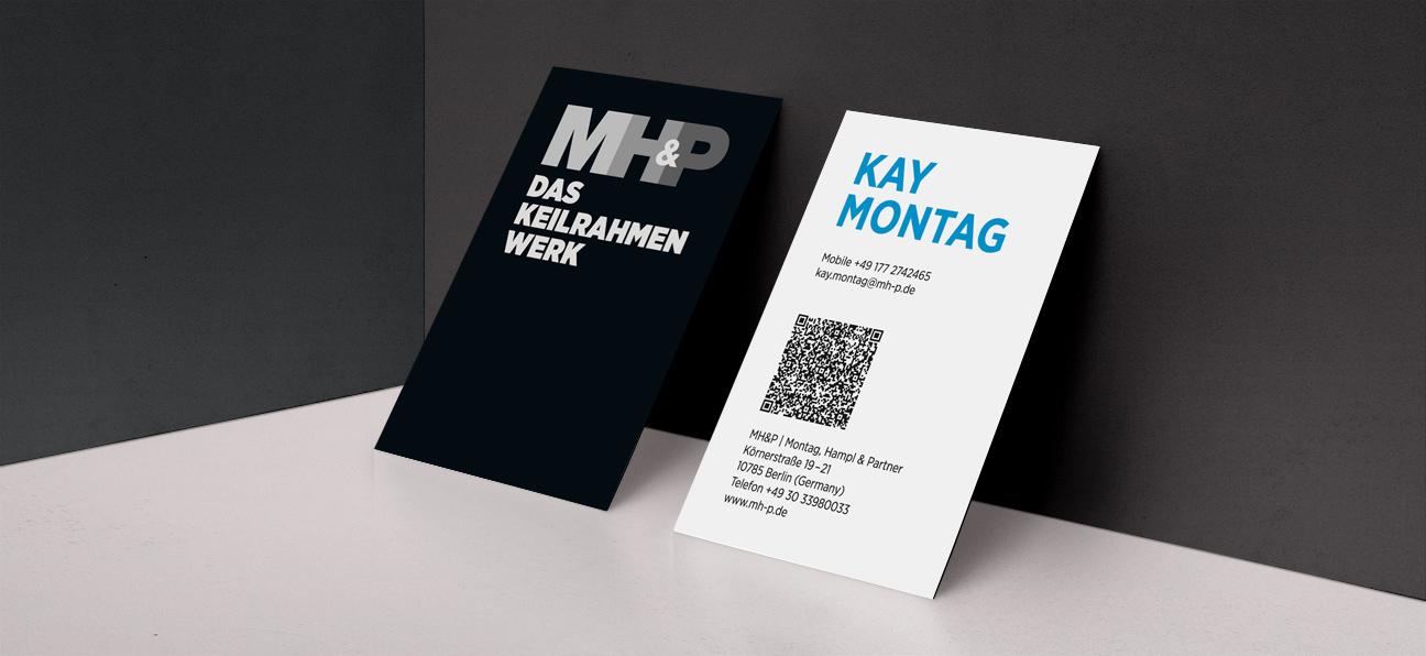 MH&P Das Keilrahmen Werk Visitenkarten