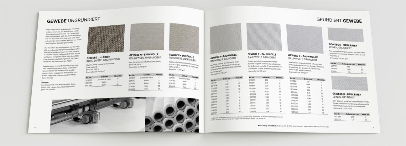 MH&P Das Keilrahmen Werk Katalog