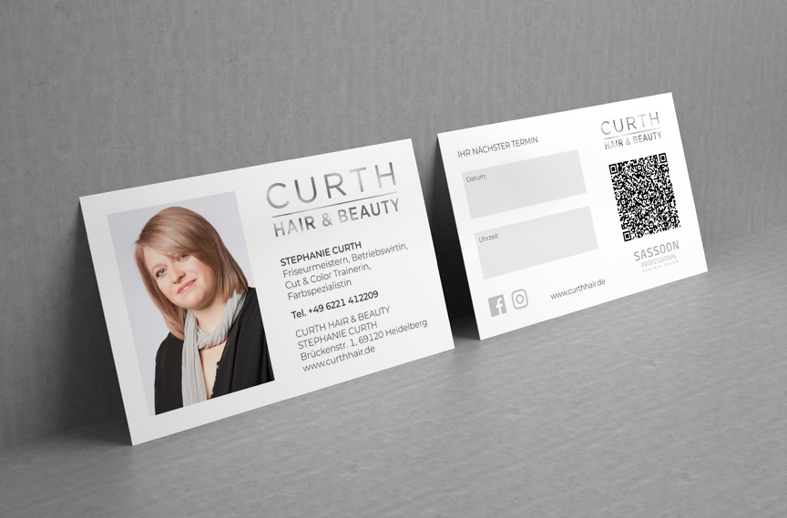 Stephanie Curth Visitenkarte mit Termin